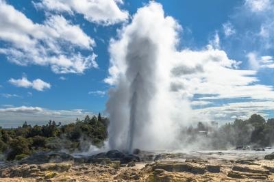 Gejzír v Rotorua, Te Puia, Nový Zéland